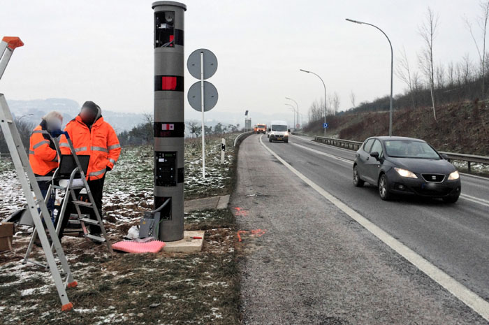 photo du radar fixe B7 Schieren Ettelbruck
